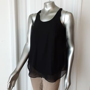 New Directions Layered Chiffon Top Sz Small